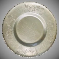 Wrought Farberware Hammered Aluminum Scallop Rim Bow with Embossed Design