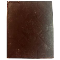 1892 Large Embossed Self Pronouncing Edition The Holy Bible Family Bible