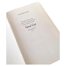 Robert Frost's A Further Range  Limited Edition Number 315/803 Signed