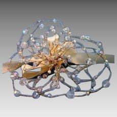Vintage Handcrafted Swarovski Crystal Flower Bridal Bouquet