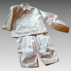 Vintage Dupioni Silk Christening/Naming/Baptism Suit 4 Piece Boys