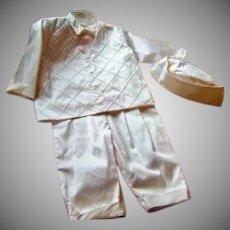 Vintage Dupioni Silk Christening/Naming/Baptism Suit 4 Piece Boys