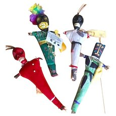 VooDoo Doll Set of 4 White/Dark Arts Dolls from 1980's New Orleans
