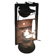 Antique Dietz Electrified Refractive Lantern with Original Lens