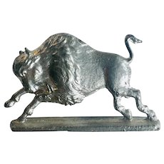 Pewter American Buffalo Figurine Vintage Greenfield Village - The Henry Ford