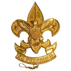 Vintage Boy Scout - Large WW II Pressed 1st Class Pin