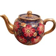 Price Brothers Cobalt with gold leaf Teapot, hallmarked and numbered. England