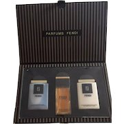 "Fendi Parfums 3 Piece Gift Set from the 1980's ""New"" in Original Box"