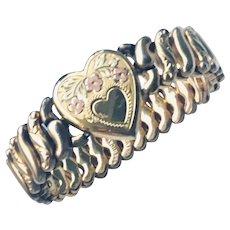 Expansion Heart Bracelet   WWll  American Queen Pittman Keeler