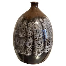 Studio Pottery Blended Glaze Vase, circa 1980's, signed by the artist