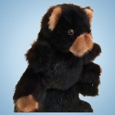 Mink Teddy Bear Vintage Dyed Ranch Raised Mink, made in Hong Kong, 1980's.