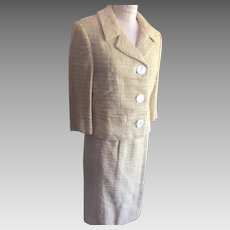 Peck & Peck 5th Avenue Crest Collection 1960's Basket Weave Women's Suit