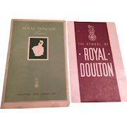 Rare 1940's Royal Doulton Booklets-Figurines Collectors Book No 1, The Symbol of Royal Doulton
