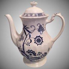 J G Meakin China Blue Nordic Large Tea/Coffee Pot English China, Classic White