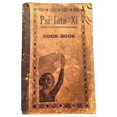 1930's Psi Iota Xi Sorority Cook Book with handwritten added recipes