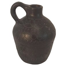 Native American Cherokee Artist Louise Bigmeat Maney Vintage Intricately Decorated Jug