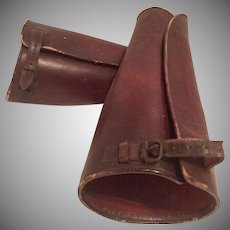 Vintage Leather Equestrian/Military WWll Gaiters/Leg Guards