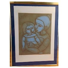 The Blue Light by Irving Amen Limited Edition Etching, Handsigned