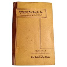 European War Day by Day A Concise Chronologiccal Review Compiled by The Detroit Free Press