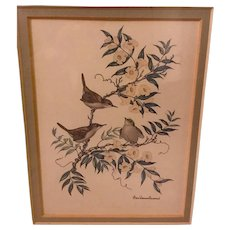 Signed Framed Lithographs by Artist and Naturalist Anne Warsham Richardson