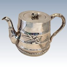 Vintage Bamboo Repousse Sterling Silver Tea Pot, purchased on The Silk Road