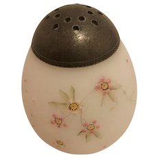 Mt. Washington Opaline Handpainted Salt or Pepper Shaker of Opal Glass