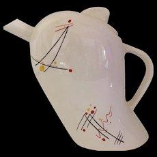 Sleek Rare Graphics Modern Swineside Teapot from England - Red Tag Sale Item