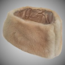 Vintage Natural Blonde Mink Collar