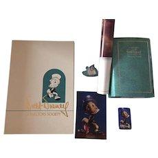 "Disney Charter Membership Kit 1993 Jiminy Cricket ""Cricket's the Name"" COA"