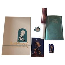 "Walt Disney Charter Membership Kit 1993 Jiminy Cricket ""Cricket's the Name"" Figurine, COA , more"