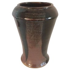 Tenmoku Studio Pottery Earthtone Vase