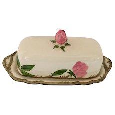 Franciscan Desert Rose Covered 1/4 Lb Butter Dish, Circa 1940s