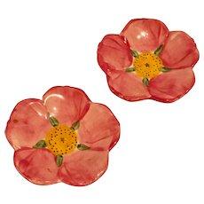 2 Franciscan Dessert Rose Vintage Tidbit/Tea Bag Dishes