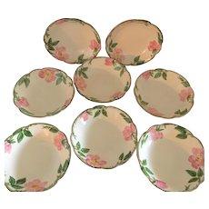 Franciscan Desert Rose Set of 8 Fruit Bowls, Circa 1940s - Red Tag Sale Item