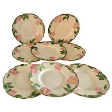 Franciscan Desert Rose Set of 8 Bread and Butter Plates, circa 1940s - Red Tag Sale Item