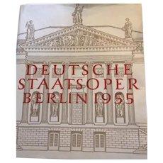 Deutsche Staatsoper Berlin 1955 ,  First Edition in German