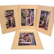 Victoria Platt Ellis Hand Lithographs, Set of 4