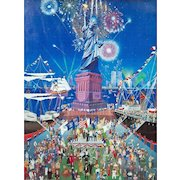 Statue of Liberty Centennial Edition by Melanie Kent Taylor, signed in gold in the plate