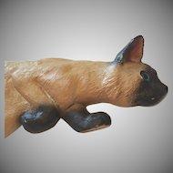 Carved Wood Vintage Folk Art Siamese Cat Door Jamb Walker