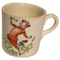 Borden Elsie the Cow Vintage Mug, circa 1940