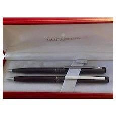 "Sheaffer Pen & Pencil Set  Vintage ""New"" Stock in Red Presentation Box"