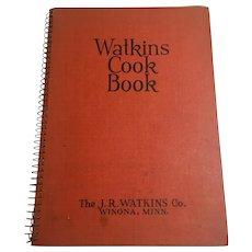 Watkins Depression era Spiral Bound Cookbook, 1936 Edition