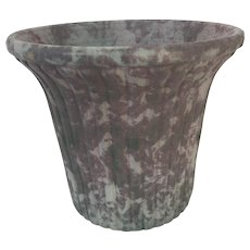 Arts and Crafts Burley Winter Ribbed Planter with Flared Top