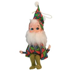 Vintage Bearded Pixie/Elf  Shelf/Branch Sitting Ornament from Japan