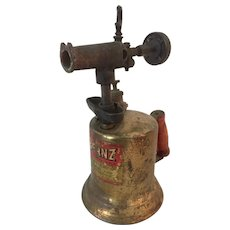 Vintage Industrial Otto Bernz Brass Hand Held Blow Torch