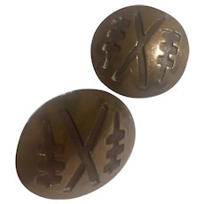 Copper Native American Vintage Cufflinks, 1940's