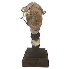 "Hand Carved Folk Art Sculpture ""Spoon Head"""