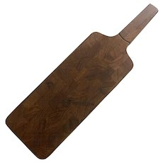 Dansk Staved Teak Cutting Board with Knife by Jens Quistgaard