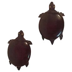 Bakelite Turtle Dress/Fur Clip Matching Pair, circa 1930's