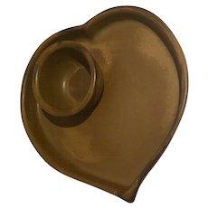 Bennington Potters Heart Cracker/Chip Dish with Small Bowl, David Gill 1950